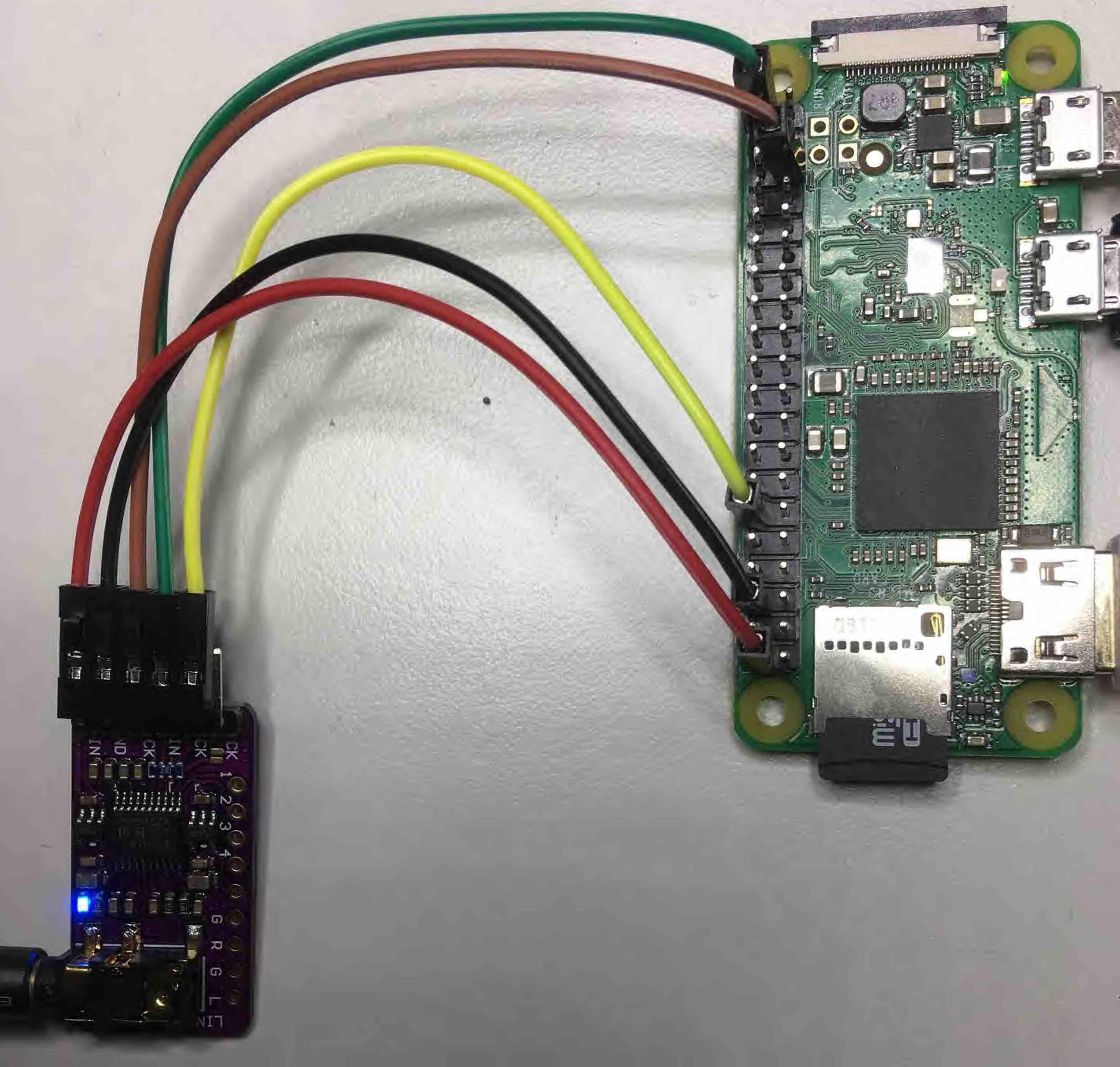 Raspberry Zero W V1 1 + Volumio / I2S-connection + Dietpi